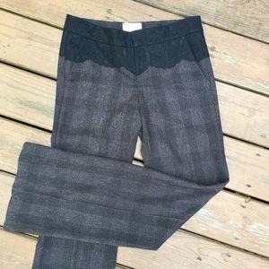 Elevenses Brighton Brown Plaid Lace Top Pants 4